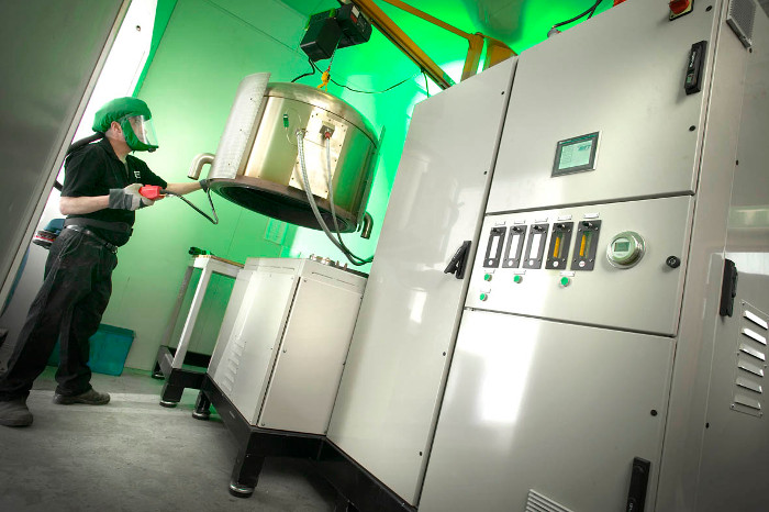 Part of CMA EcoCycle's mercury recovery equipment