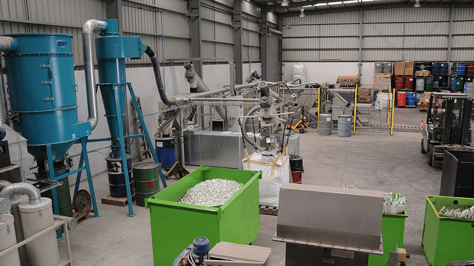 How does CMA Ecocycle collect, transport, store and recycle lighting?