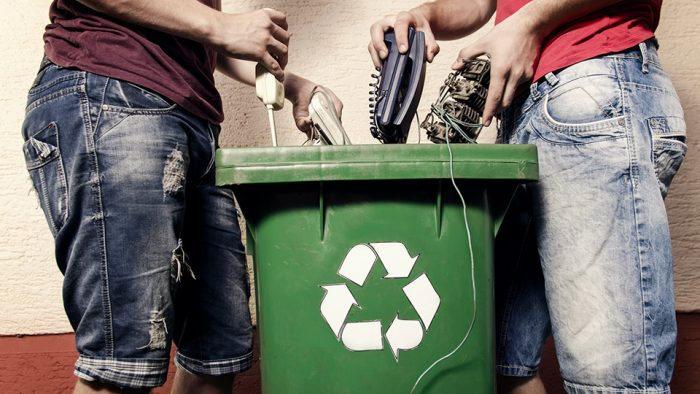 How does CMA Ecocycle collect, transport, store and recycle e-waste?