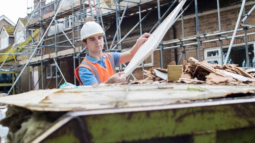 What can you recycle on a building site?