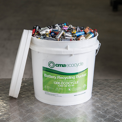 Ecocycle - Battery recycling bucket