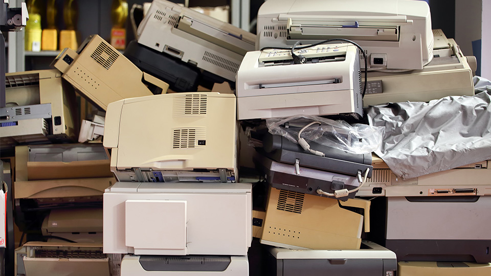 How do I recycle old printers
